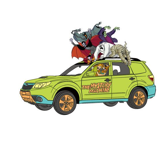 Subaru Forester Scooby Doo Driving Or Scooby And Shaggy Scared With