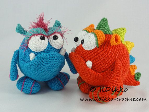 Amigurumi Crochet Pattern Monty And Myrtle The Monsters Amigurumis