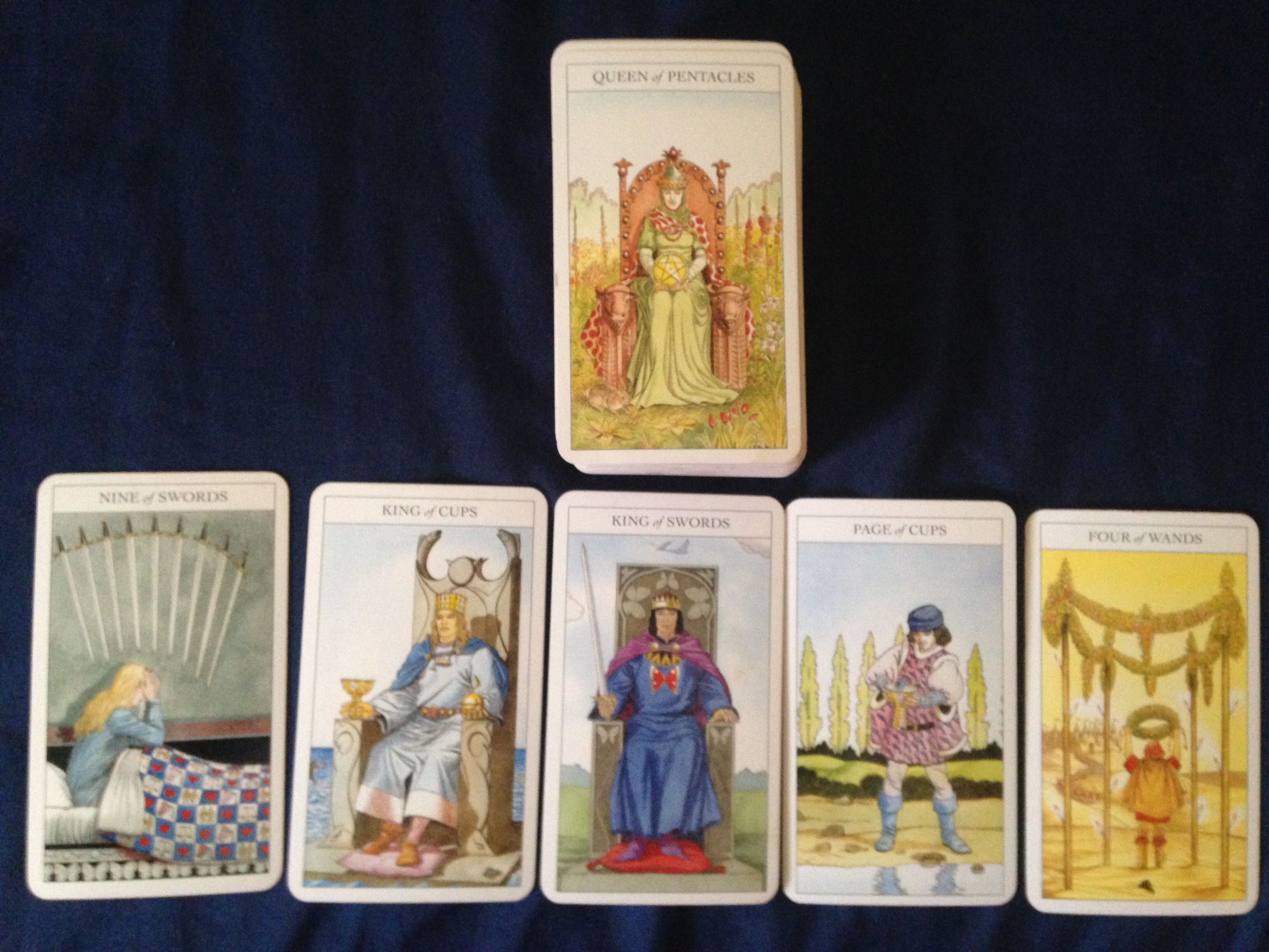 Asking about my divine masculine Queen of pentacles