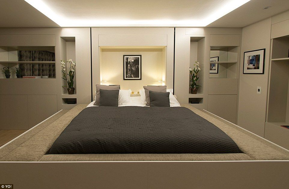 The King Size Bed, Which Lowers From A Hatch In The Ceiling At The · One  Bedroom ApartmentUrban ...