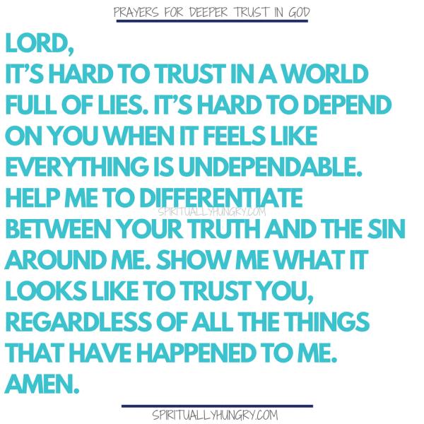 21 Short Prayers For Trusting God   prayer   Trust god, Novena