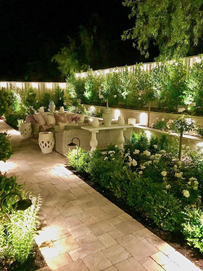 1001 Inspirierende Sichtschutz Garten Ideen Und Bilder Garten Ideen Moderner Hinterhof Hinterhofbeleuchtung
