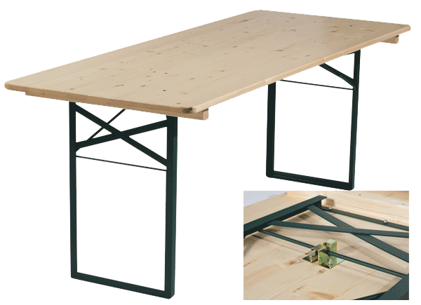 Table pliante plateau bois table pliante table et banc - Tables pliantes castorama ...