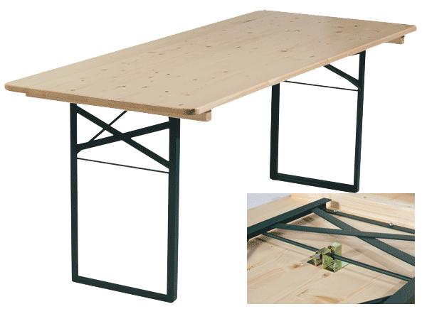 Table Pliante Plateau Bois Table Pliante Table Et Banc Pliant