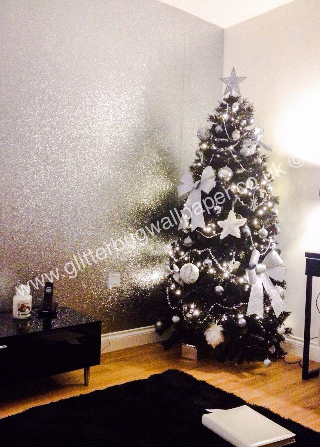 Silver Bedroom Wallpaper Silver Glitter Wallpaper Available At Wwwglitterbugwallpaperco
