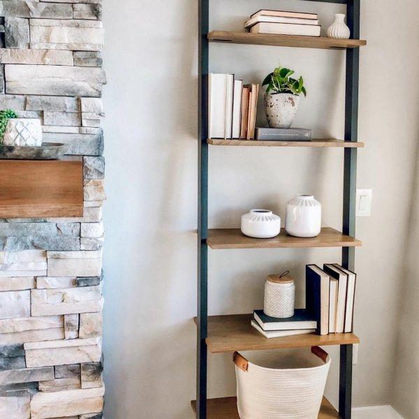 23+ Farmhouse ladder bookshelf type