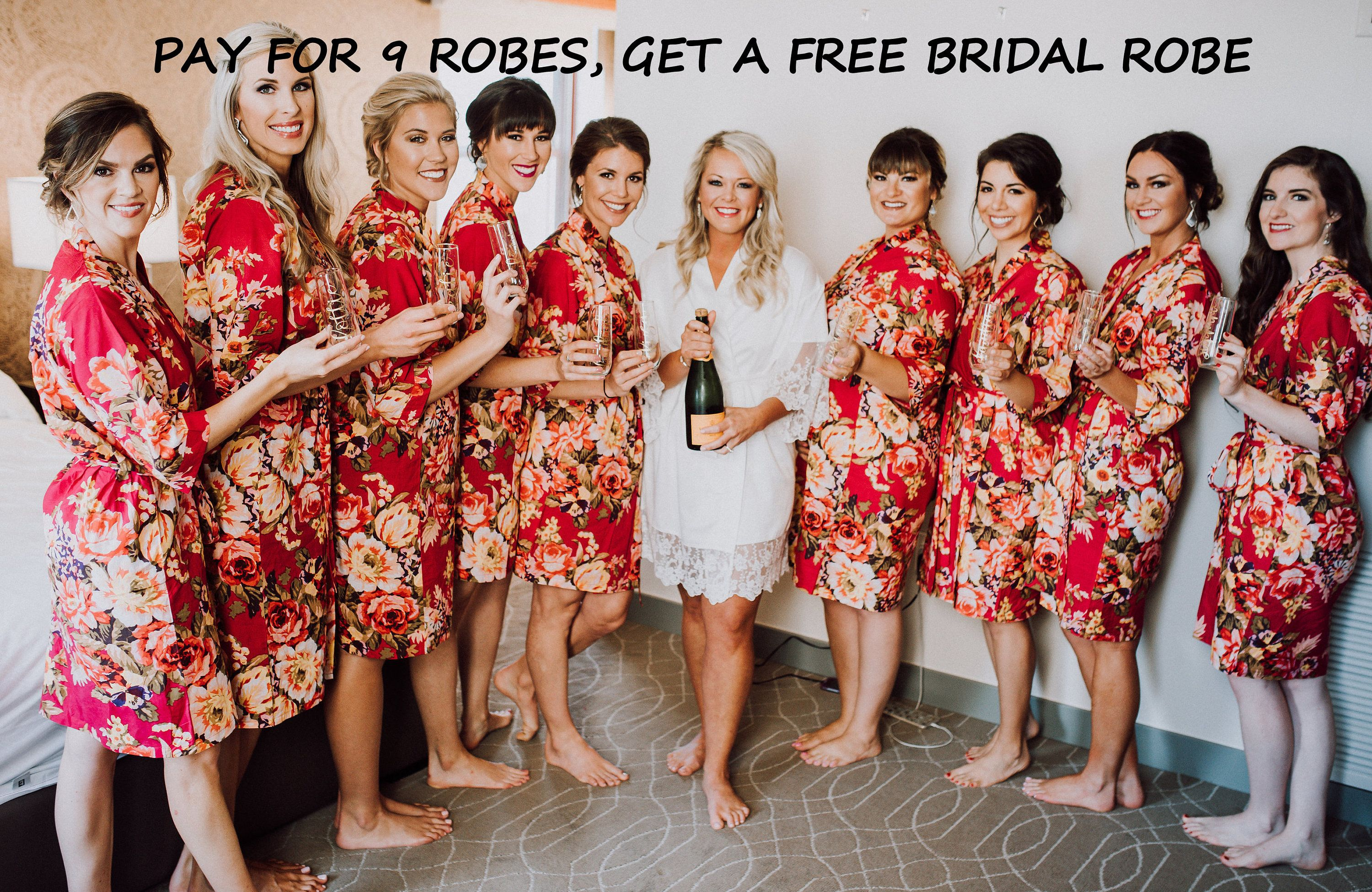 Bridesmaid Robes Set Of 10