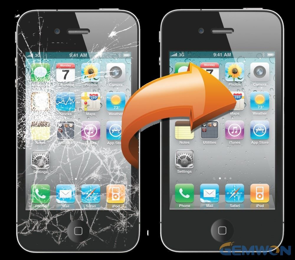 Your iPhone screen is cracked after dropping, water damage