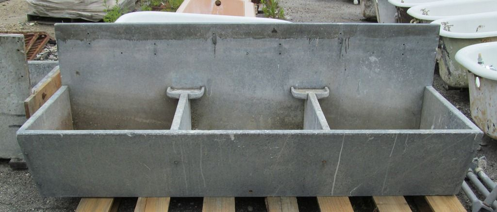 Triple Antique Soapstone Sink