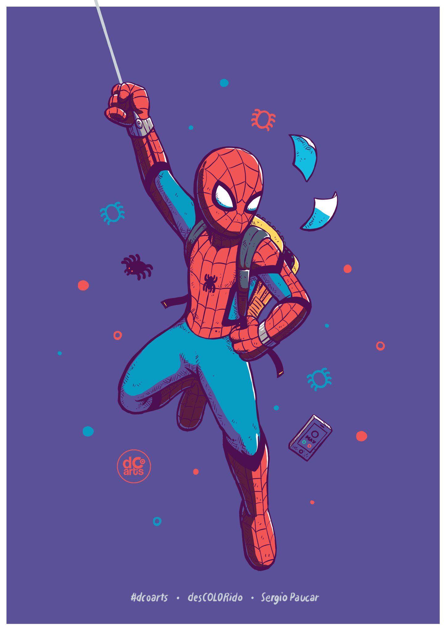 Fanart de Spider-man por desCOLORido (Sergio Paucar) (dcoarts