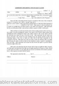 Sample Printable Cya Dueonsale Form  Printable Real Estate Forms
