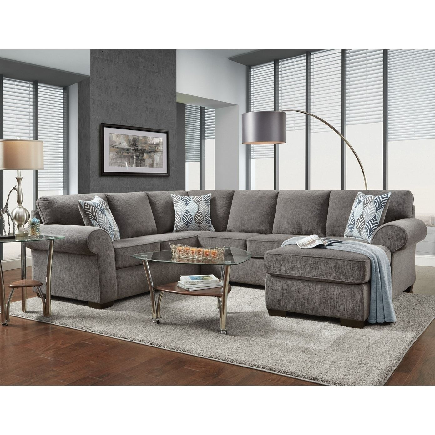 Copper Grove Saint Trojansmoke Grey Sectional With Images