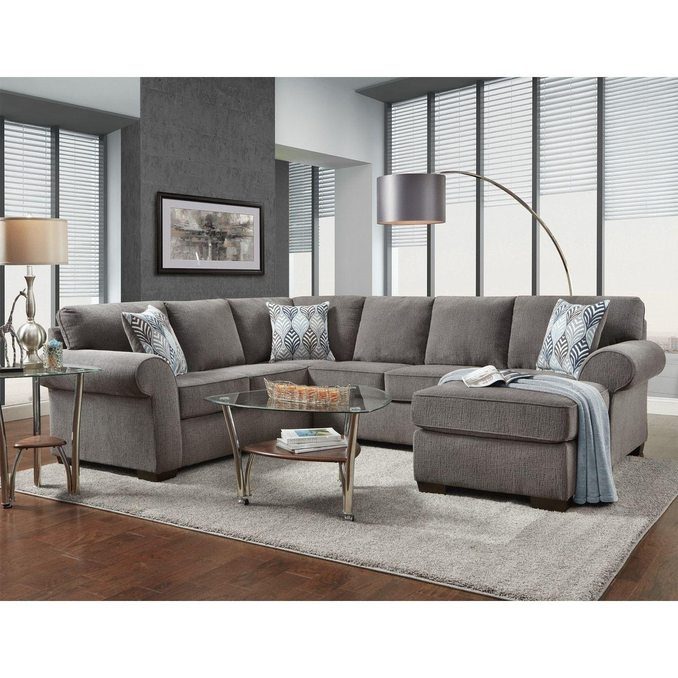 Sofatrendz Marlton Smoke Grey Sectional Living Room Sectional Affordable Furniture Sectional Living Room Sets