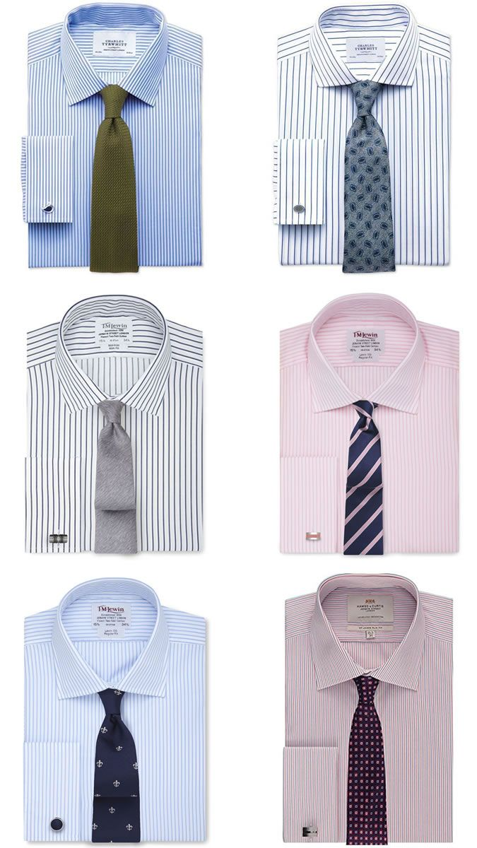 4d9efd26b8 Men's Striped Shirt and Tie Combinations | Men's wardrobe in 2019 ...