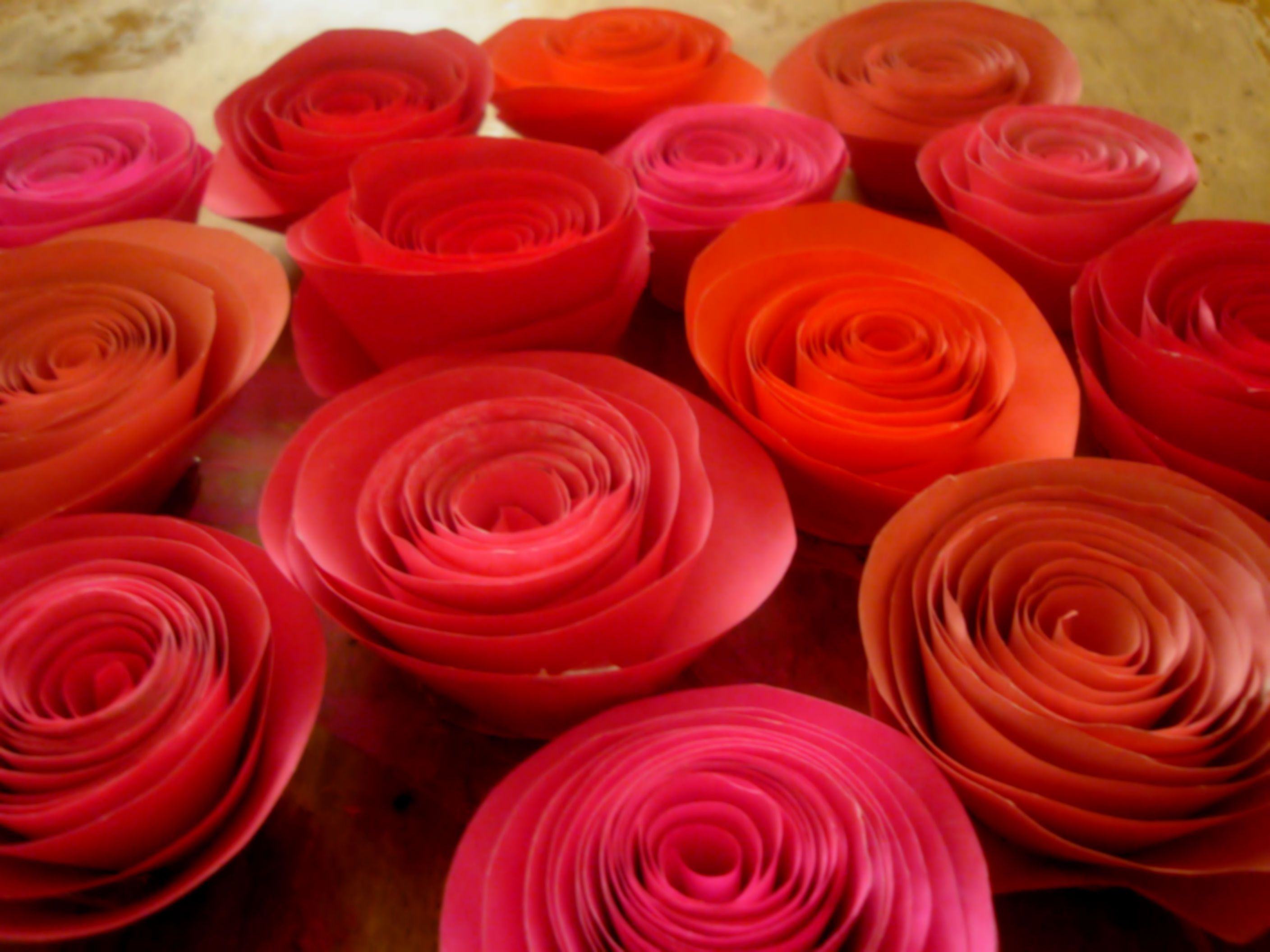 How To Make Paper Roses Paper Roses Printer Paper And Glue Sticks