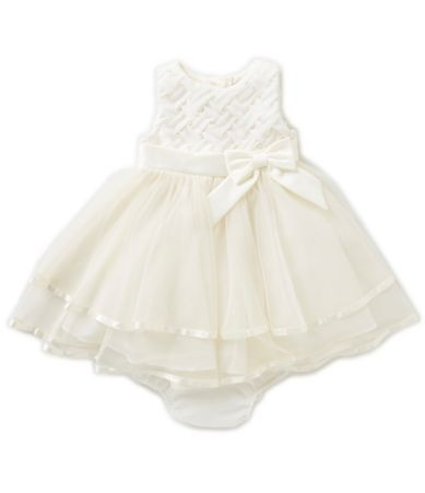 Rare Editions Baby Girls 12-24 Months Basketweave Tiered Dress | Dillards
