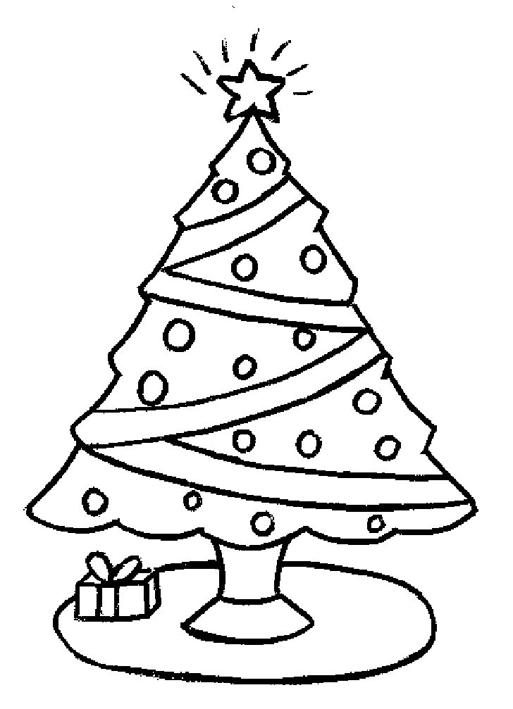 news christmas tree coloring pages for kids download free