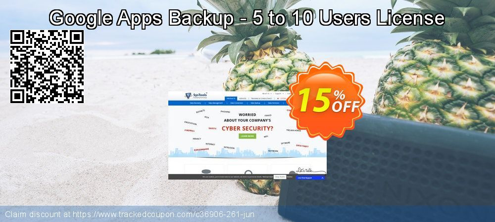 SysTools Google Apps Backup - 10 Users License Coupon 25