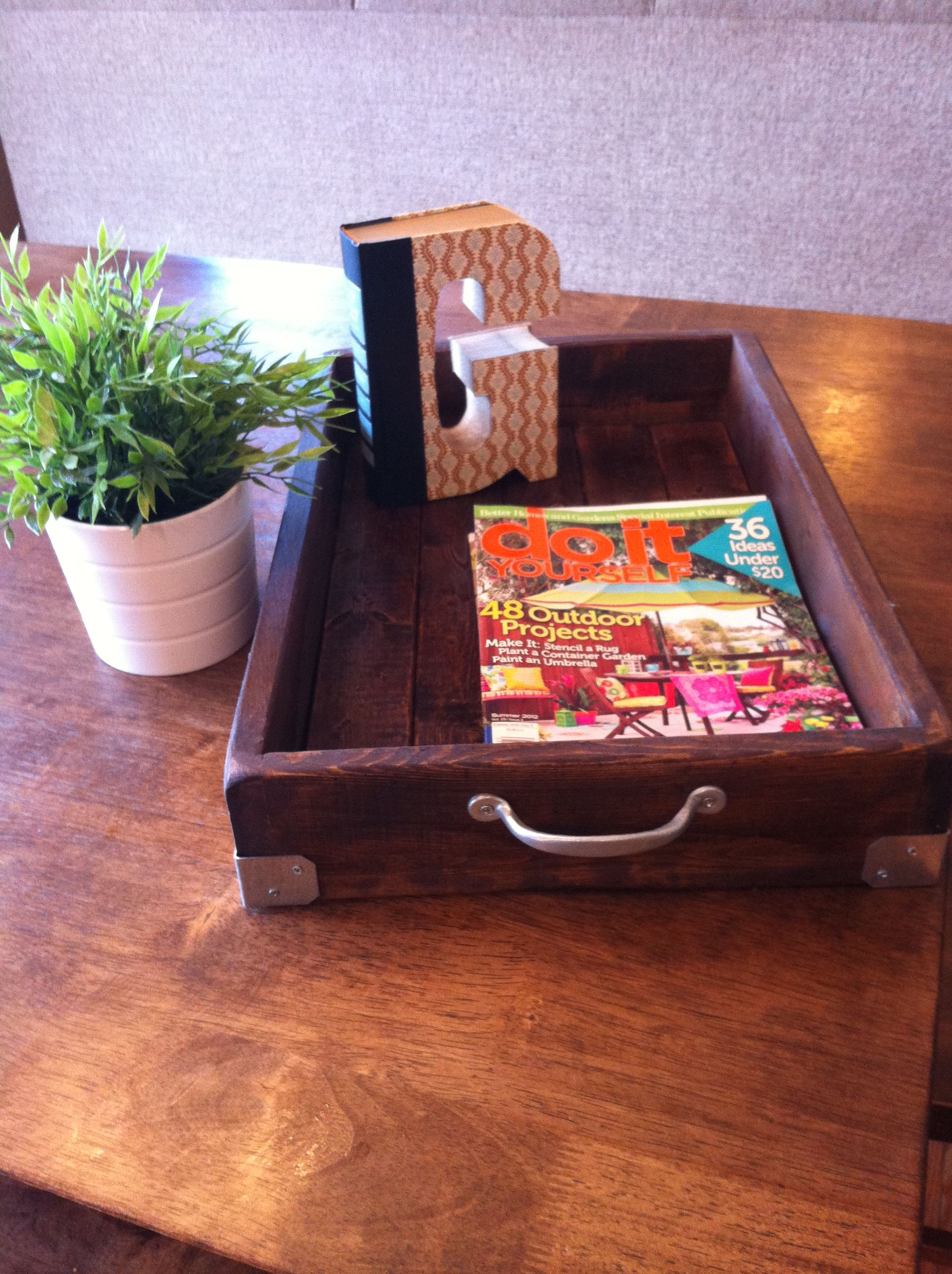 DIY Magazine Tray - got the idea and design from ...