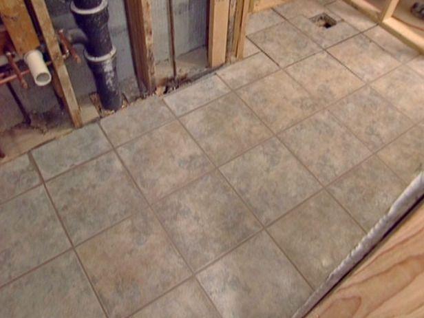 How To Install Tile On A Bathroom Floor Diy Network Bathroom