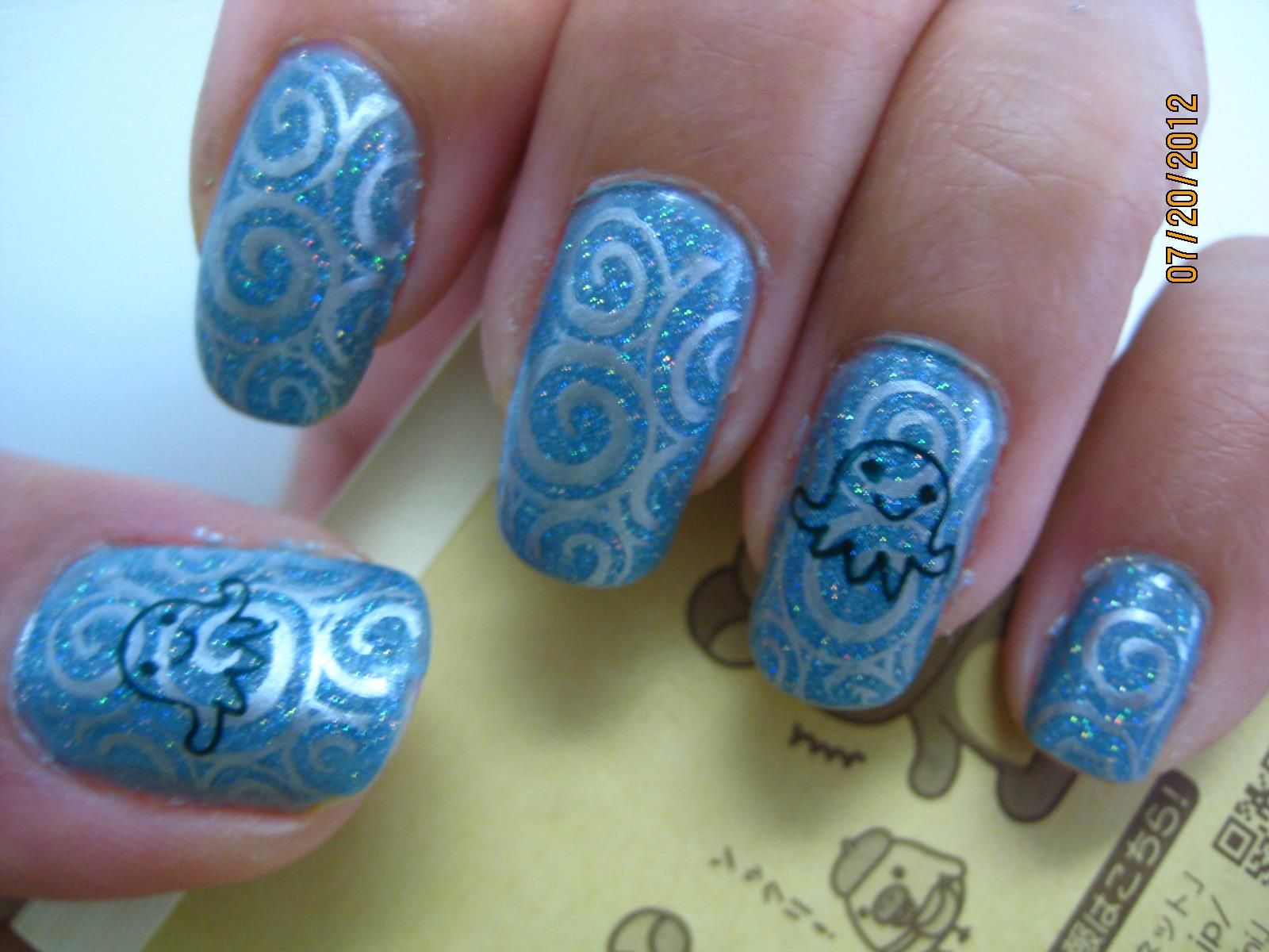 Nail Stamping. Plates are Mash-40 & Mash-37 from here: http://www ...