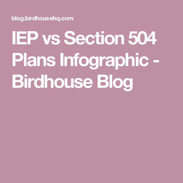 IEP vs Section 504 Plans Infographic | Iep, 504 plan, How ...