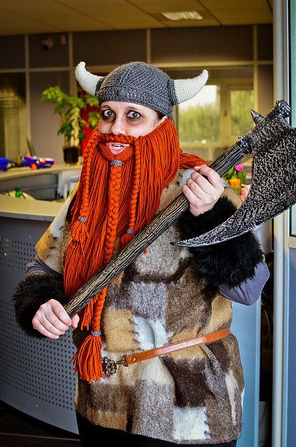 d1304cedac4 Crochet Viking Hat With Beard Free Pattern