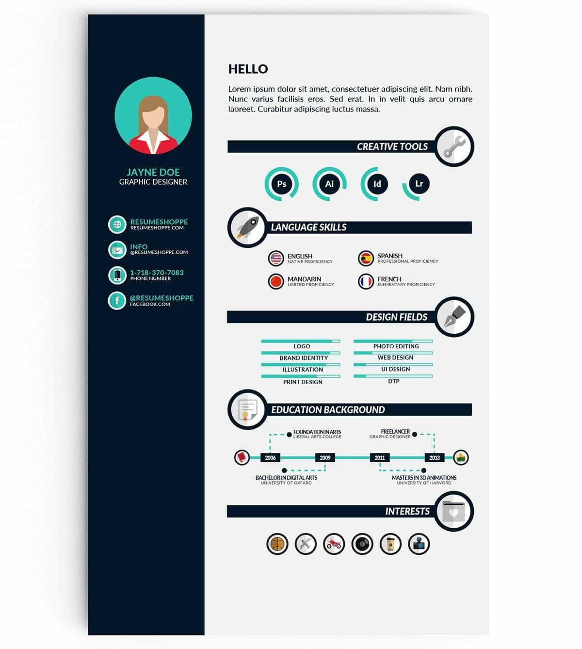 Infographic Resume Template Infographic Resume Template Infographic Resume Graphic Design Resume