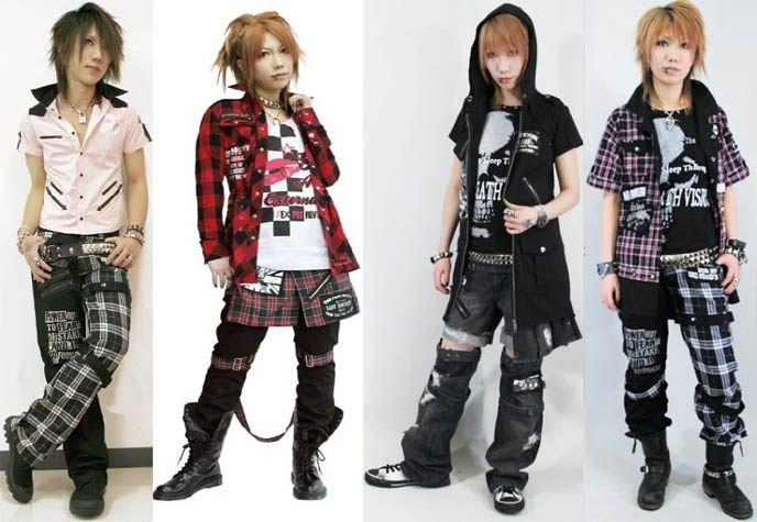Japanese Street Fashion Visual Kei Look For The Anime Emo Punk