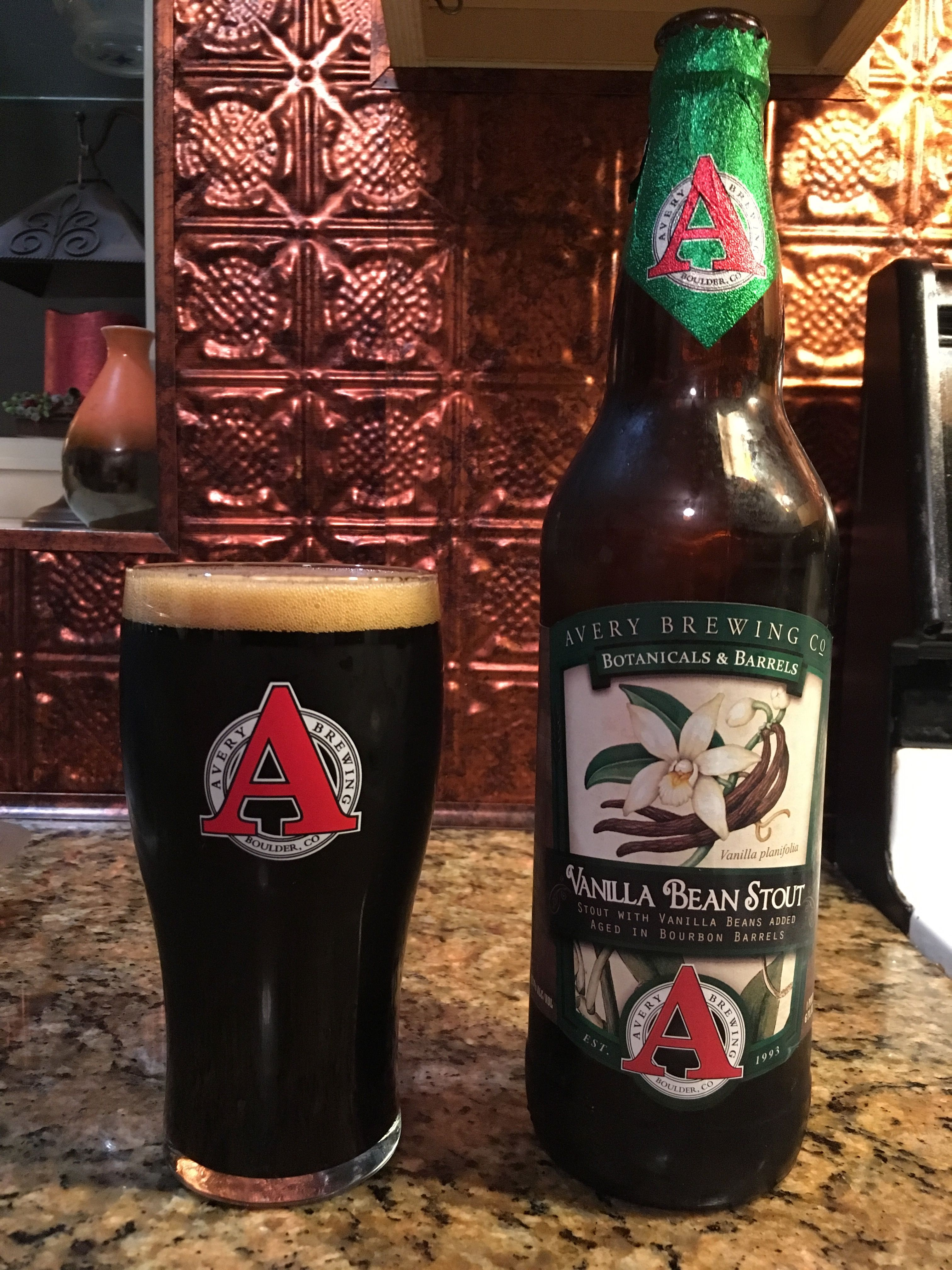 Vanilla Bean Stout By Avery Brewing Company Boulder Co How To Make Beer Drinking Beer Dads Favorite