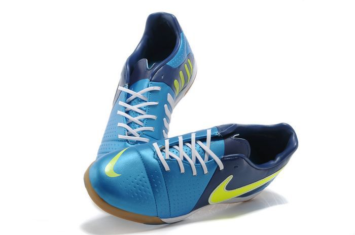 20891e54afb Nike CTR360 Libretto III IC Indoor Soccer Shoes - Blue Neon Green White