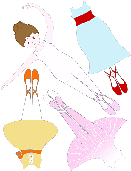 pin the tutu on the ballerina template - ballerina paper doll magnet sheet works with avery 3270