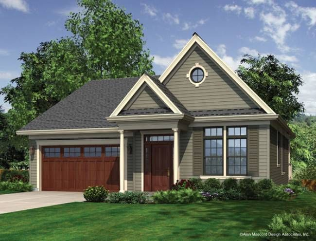 One Of My Favorite Home Designs Mascord Plan 1143 The Wandell Rancher House Plans Architectural Design House Plans Traditional House Plan