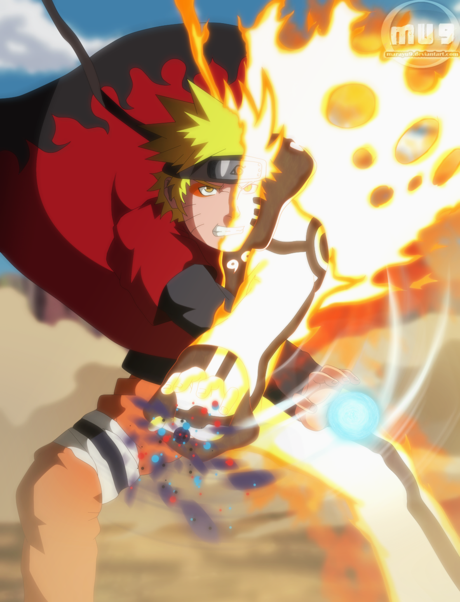 Naruto In Tailed Beast Chakra Mode And Sage Mode Double Power By