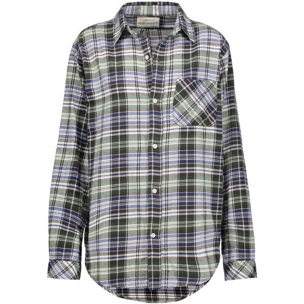 Current/Elliott The Prep School plaid cotton-flannel shirt ($90) ❤ liked
