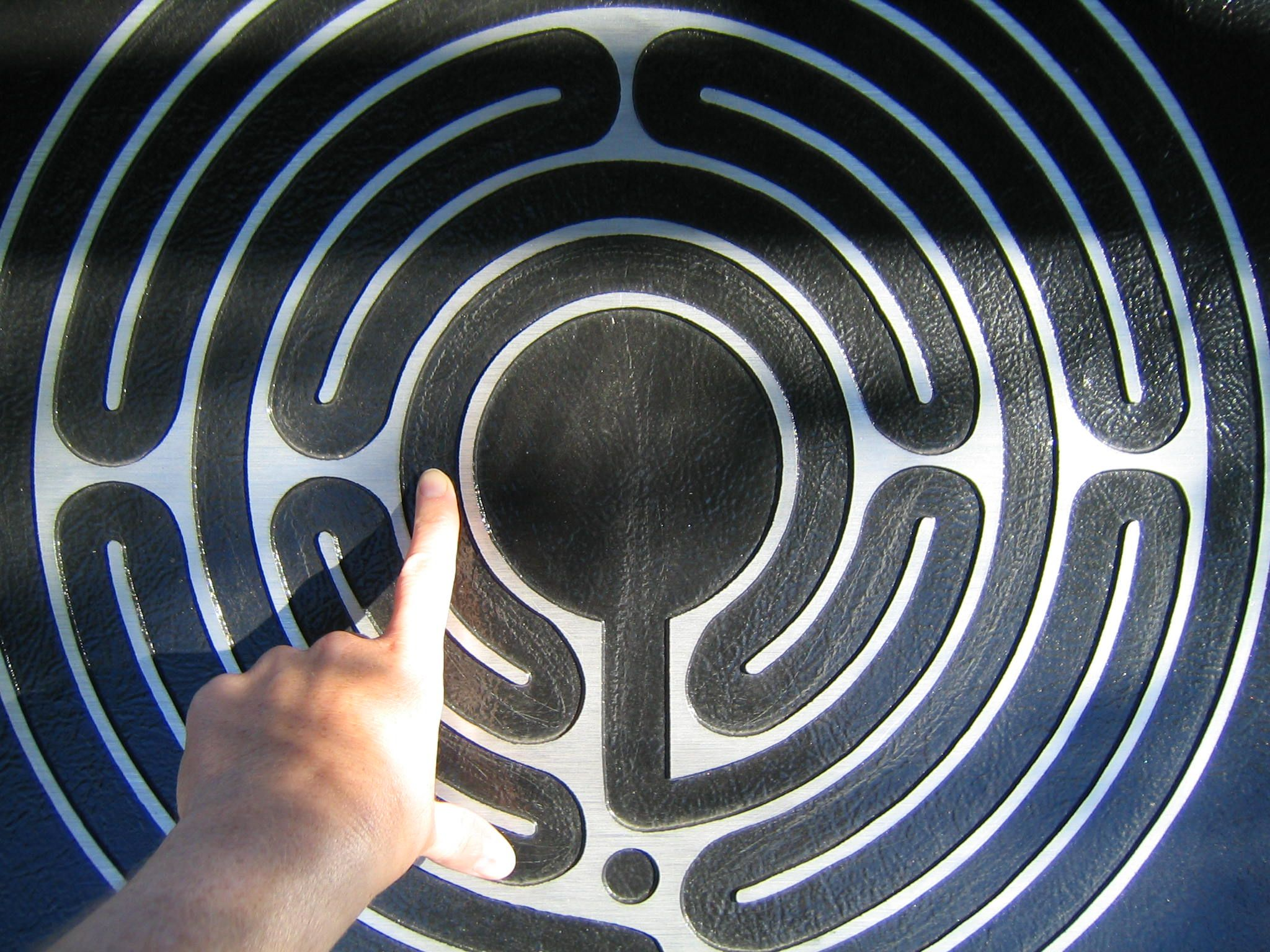 This is an image of Fan Finger Labyrinth Printable