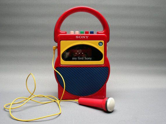my first sony magn tophone cassette avec micro lecteur enregistreur mod le 50 ans th me. Black Bedroom Furniture Sets. Home Design Ideas