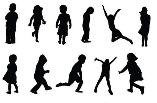 30 Sets Of Free Vector People Silhouettes For Your Next Design Project Kids Silhouette Silhouette Vector Silhouette