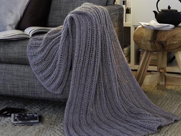 Kuschelige Warmequellen Decke Stricken Fur Anfanger Poncho