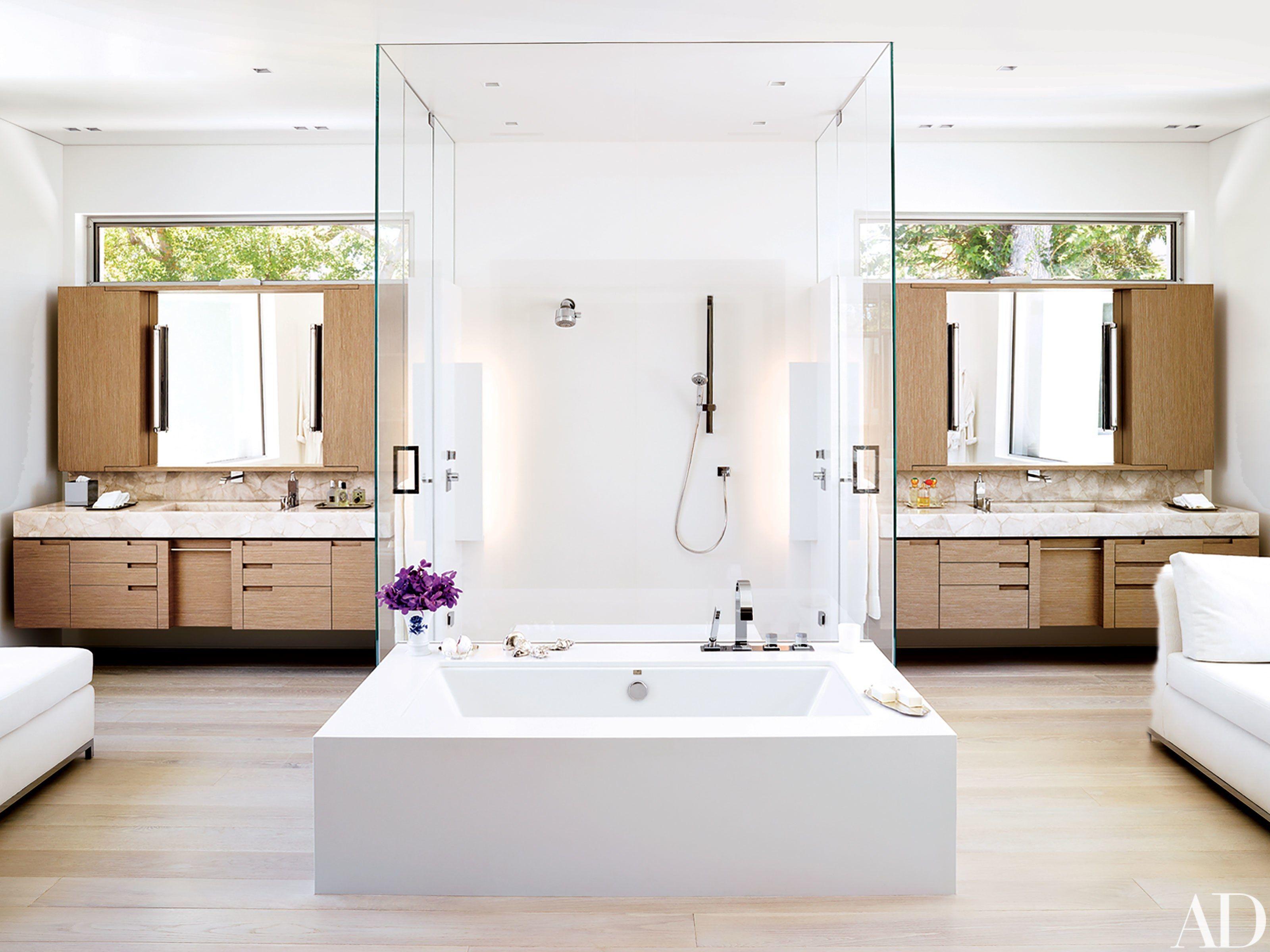 Look Inside The Lavish Los Angeles Residence Of Alexandra Von Furstenberg And Dax Miller Architectural Digest Modern Bathroom Bathroom Design