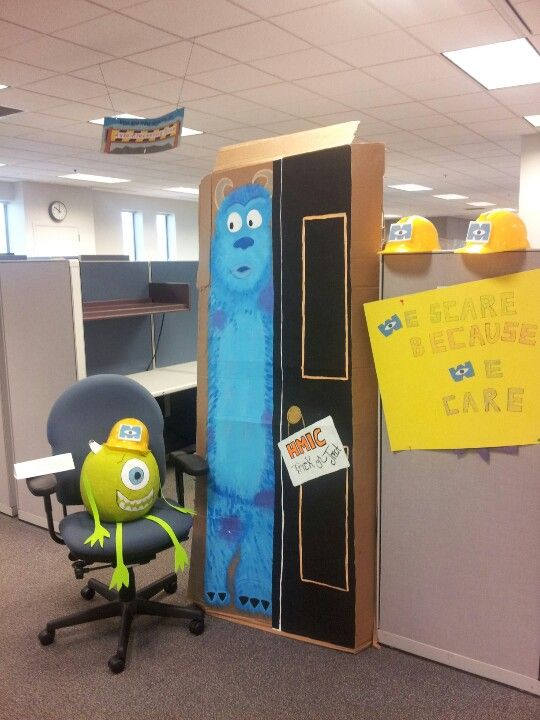 monsters inc decoration at the work place