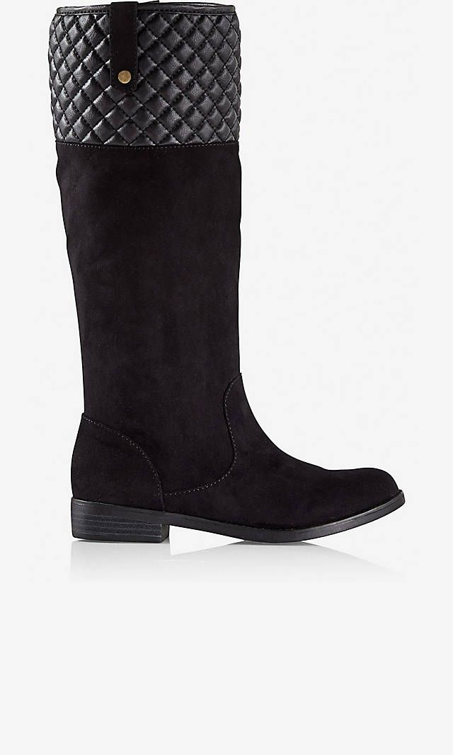 QUILTED TOP SLIP ON BOOT | Express