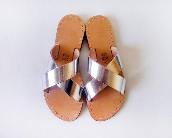 Sandales la main de Style grec strap sandales en par Sandelles