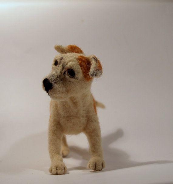 Der American Staffordshire Terrier Nadel Filz Hund von Theadfelt, £60.00