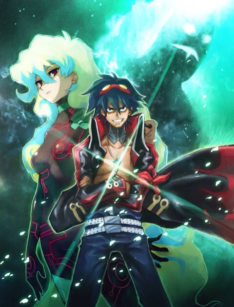 Simon x Nia | Gurren lagann, Anime, Mecha anime
