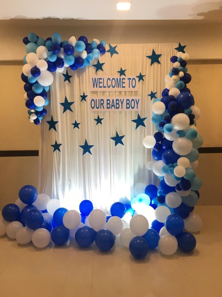 Backdrop Decor For Welcoming A New Born Baby Birthday Balloon Decorations Baby Shower Balloons Naming Ceremony Decoration