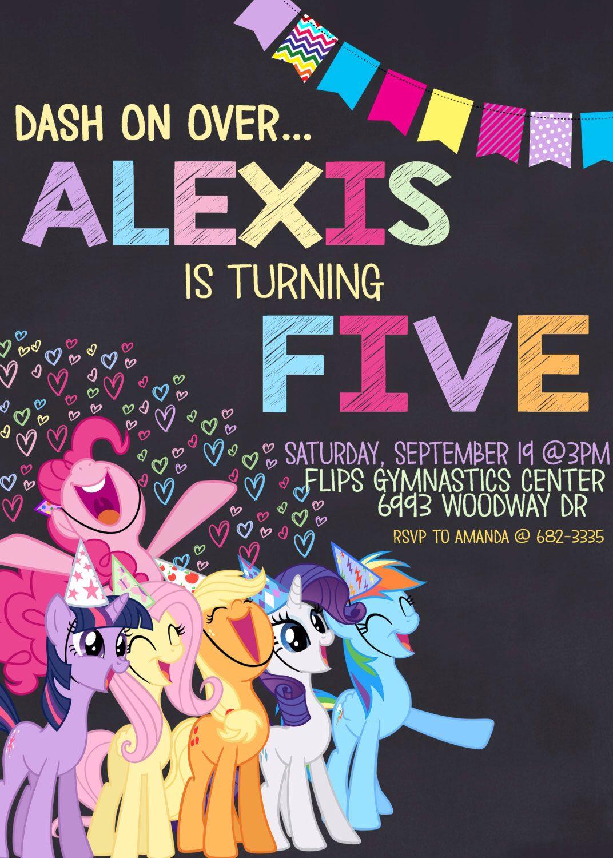 Pin De Jesica En Ponys Invitaciones My Little Pony Fiesta