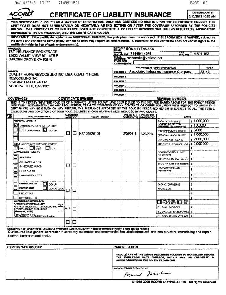 Lic. & Documents Liability insurance, Liability, Insurance