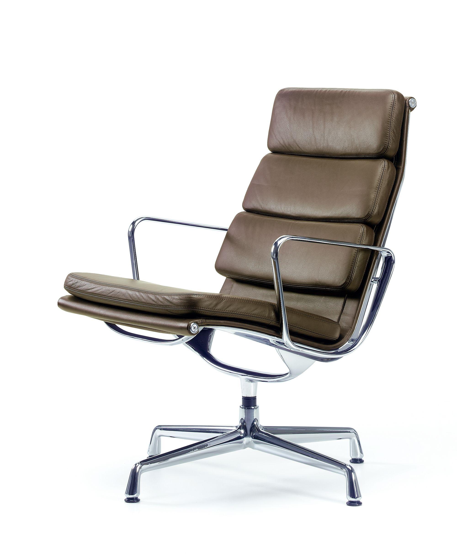 Ea 216 soft pad chair vitra leder 67 asphalt charles