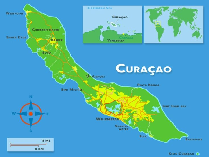 Where Is Curacao On World Map The Cay Pinterest Caribbean